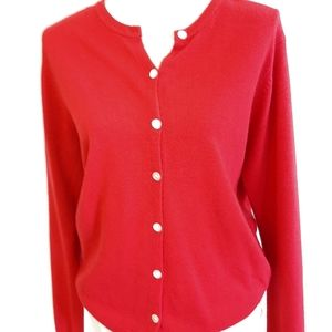 Jason Maxwell red button down cardigan